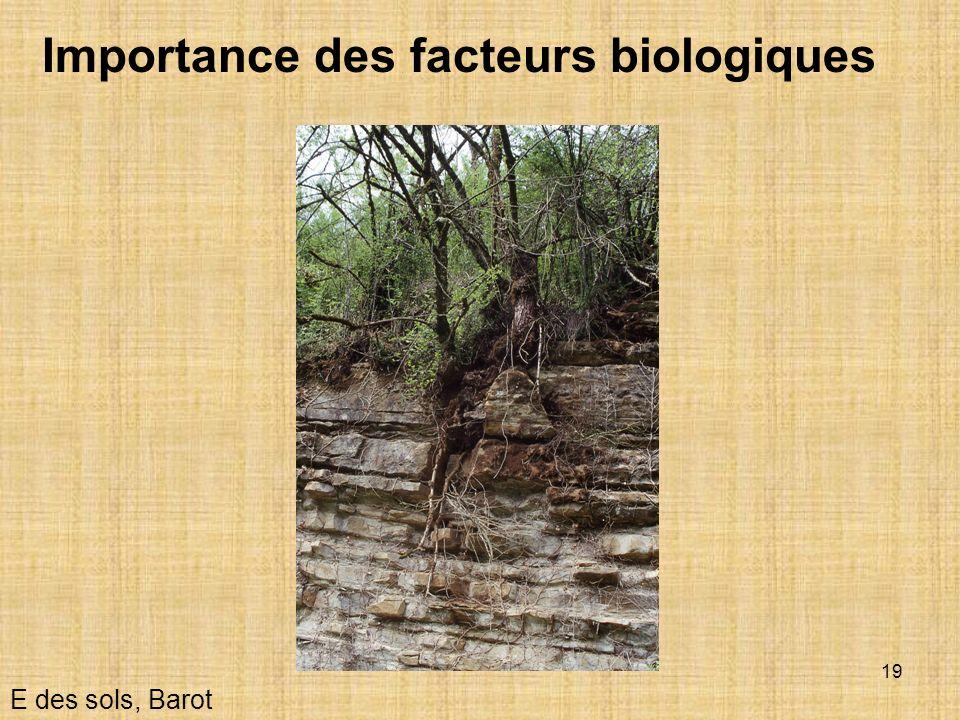 Importance des facteurs biologiques