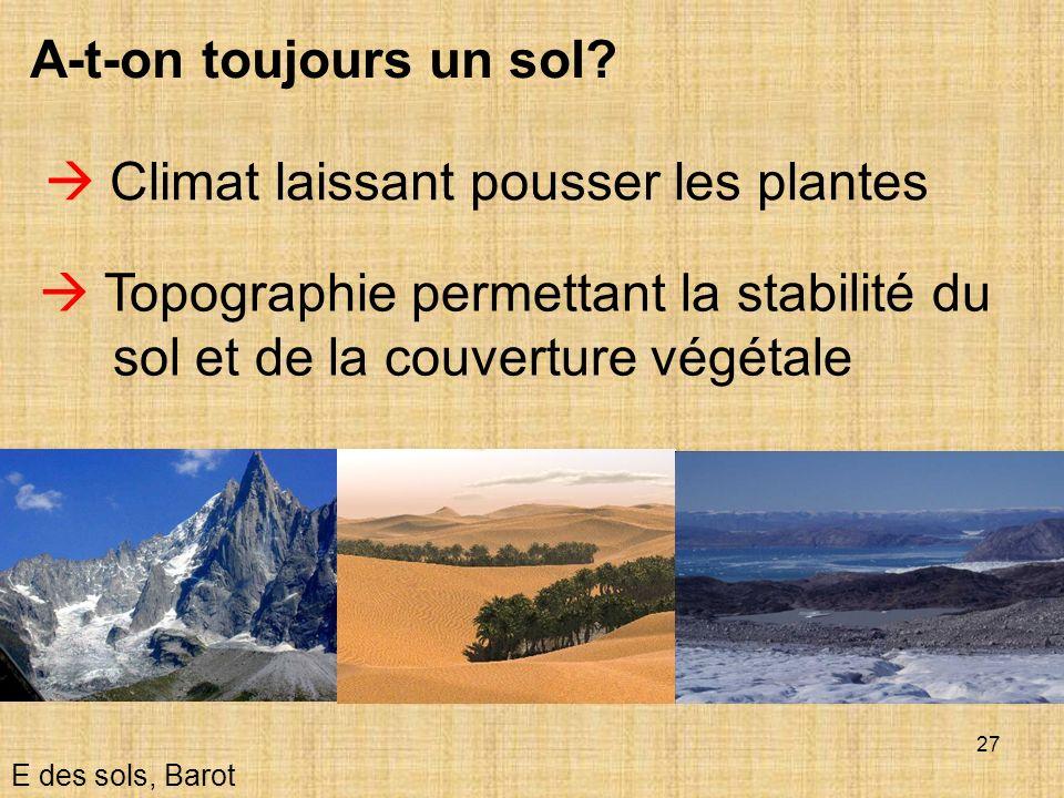  Climat laissant pousser les plantes
