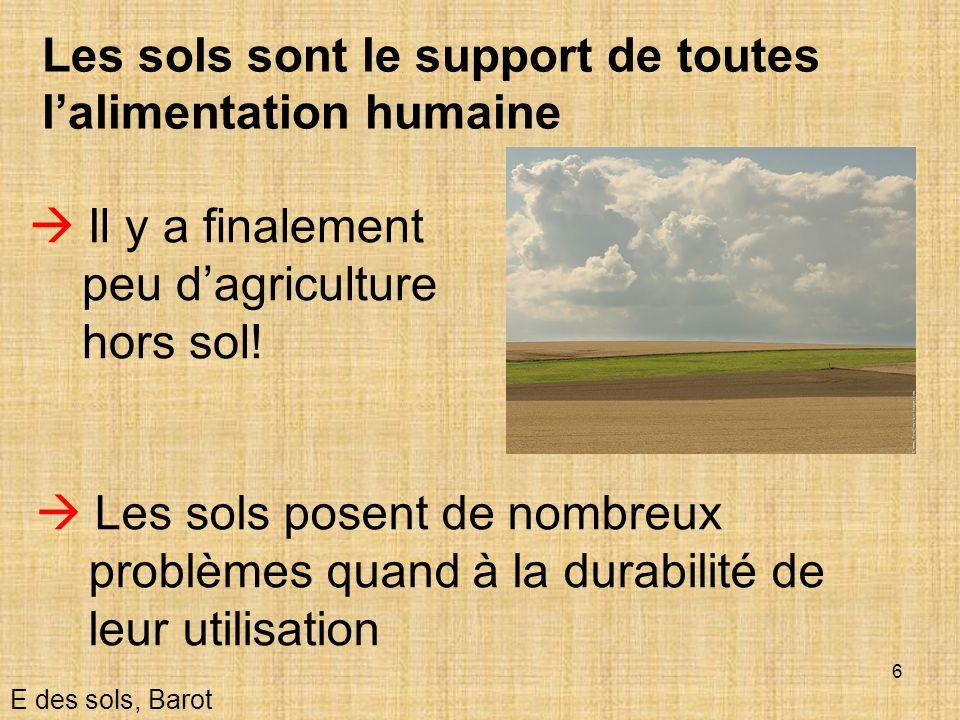 Les sols sont le support de toutes l'alimentation humaine