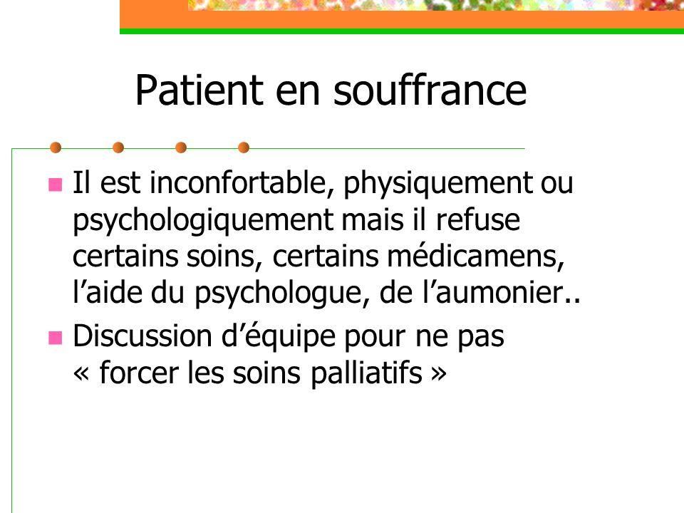 Patient en souffrance