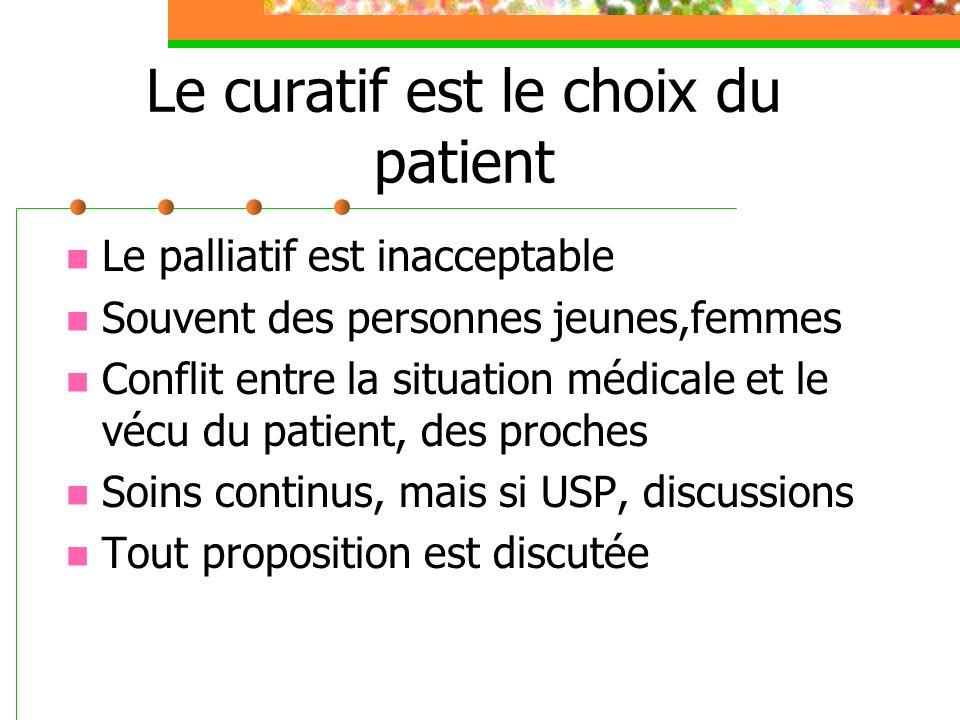 Le curatif est le choix du patient