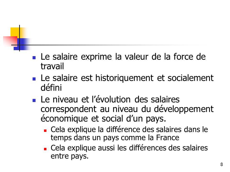Le salaire exprime la valeur de la force de travail
