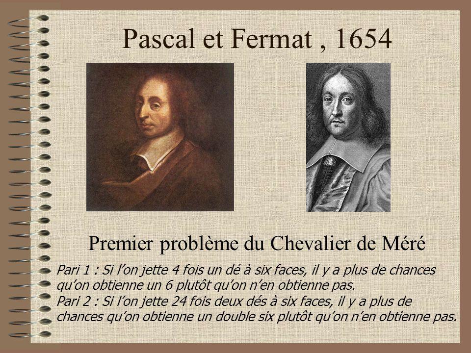 Premier problème du Chevalier de Méré