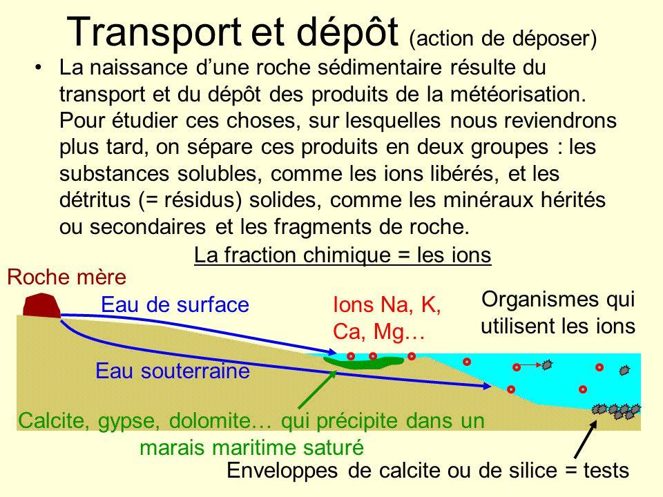 Transport et dépôt (action de déposer)
