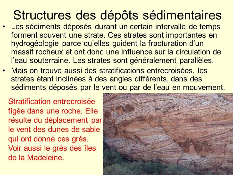 Structures des dépôts sédimentaires