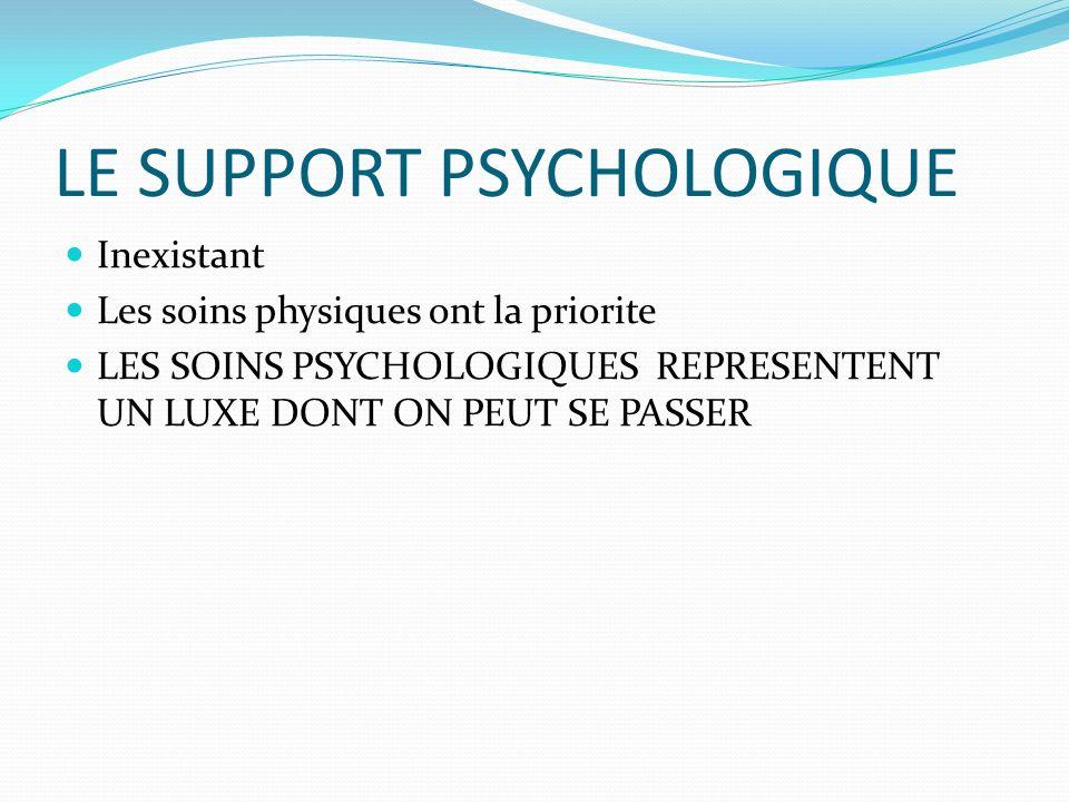 LE SUPPORT PSYCHOLOGIQUE