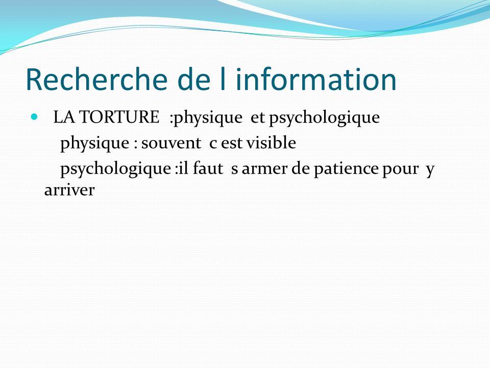 Recherche de l information