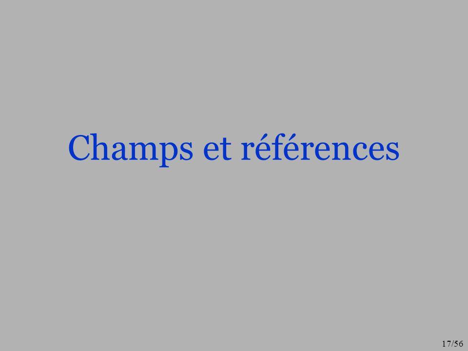 Champs et références
