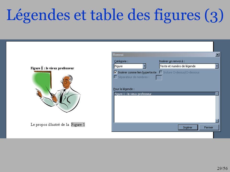 Légendes et table des figures (3)