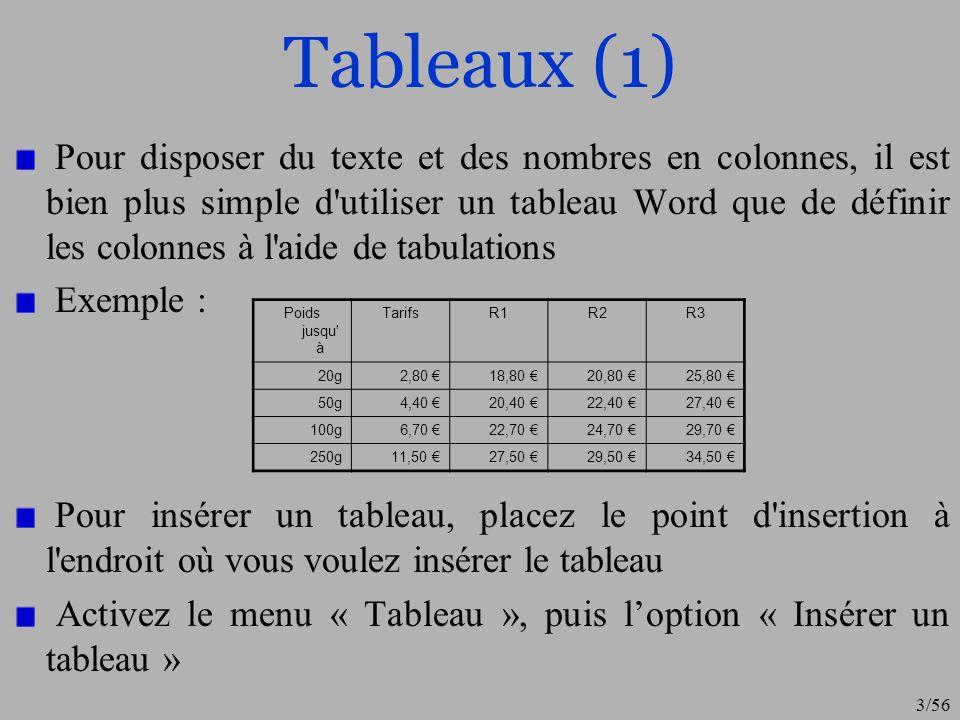 Tableaux (1)