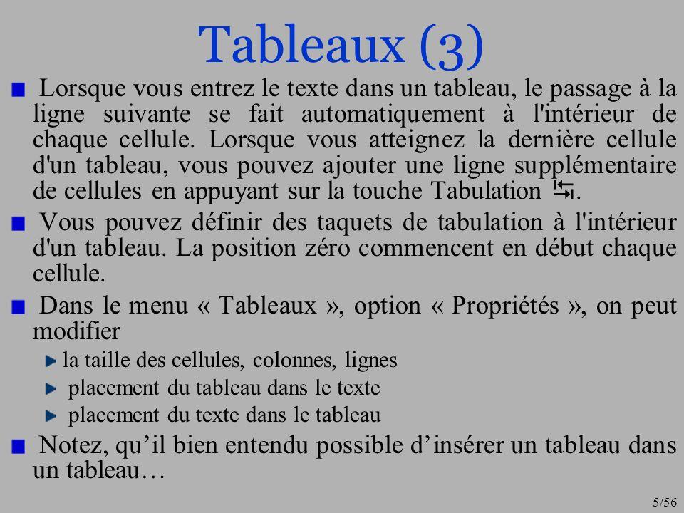 Tableaux (3)