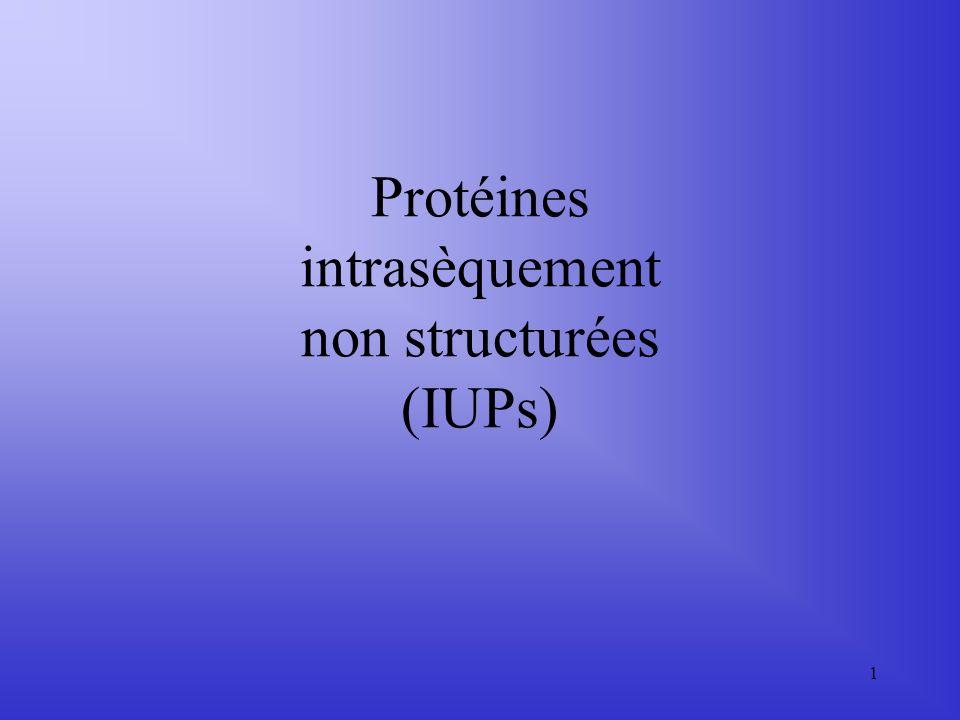 Protéines intrasèquement non structurées (IUPs)