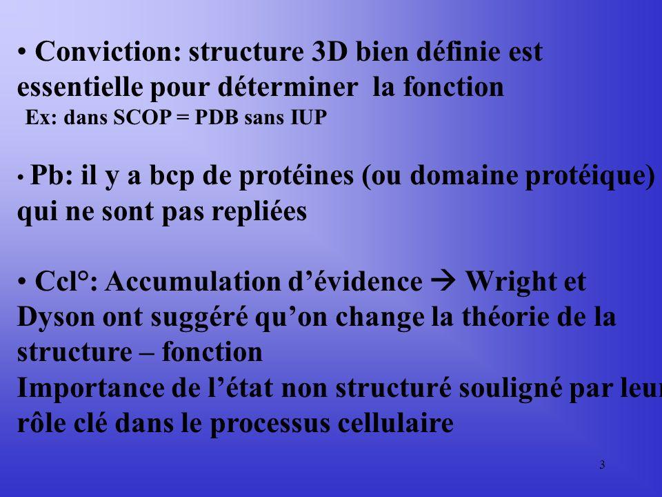 Conviction: structure 3D bien définie est