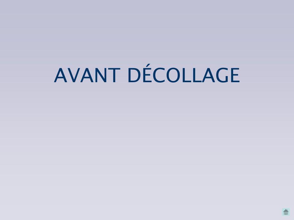 AVANT DÉCOLLAGE