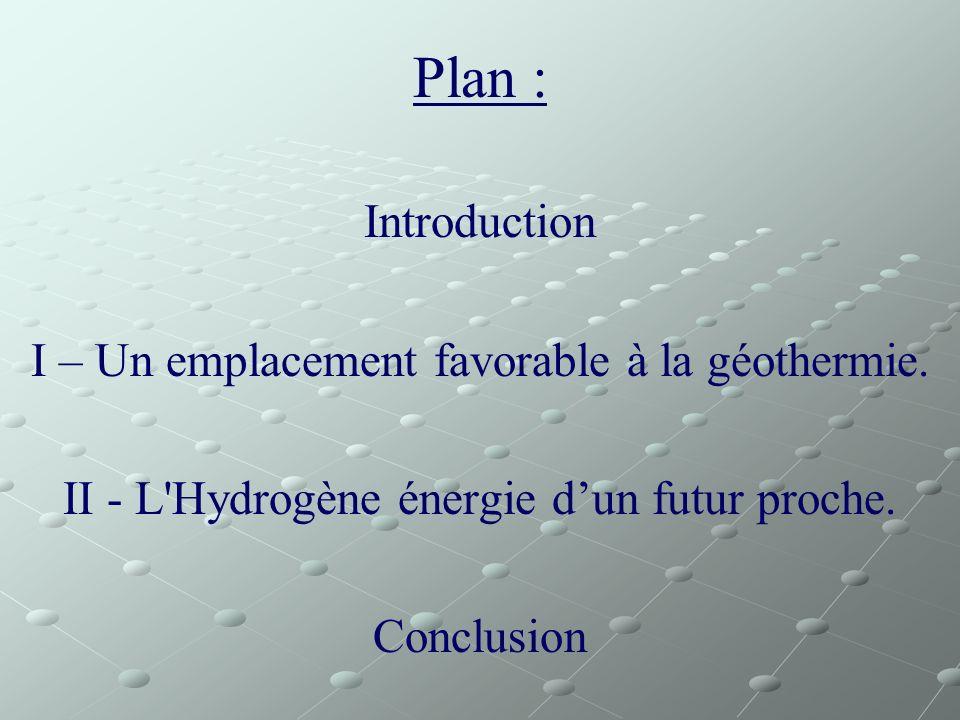 Plan : Introduction I – Un emplacement favorable à la géothermie.