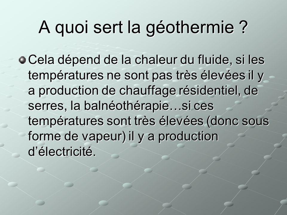 A quoi sert la géothermie