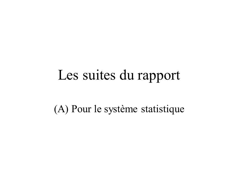 (A) Pour le système statistique