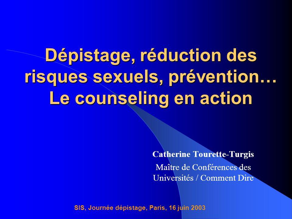 Catherine Tourette-Turgis SIS, Journée dépistage, Paris, 16 juin 2003