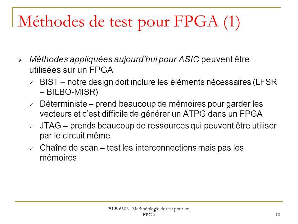 Méthodes de test pour FPGA (1)