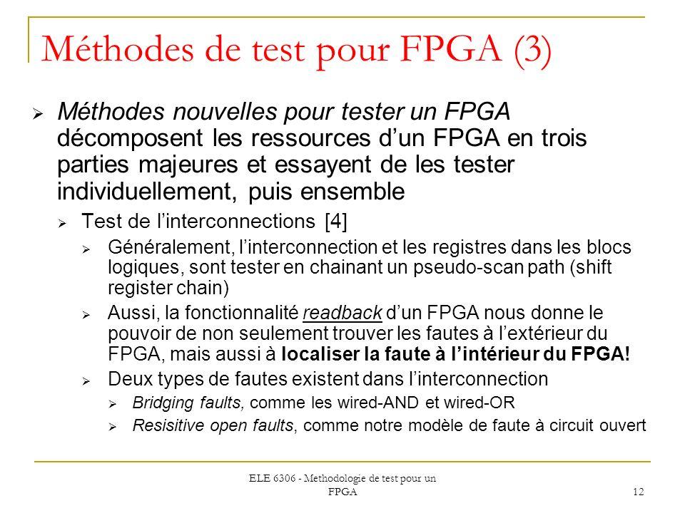 Méthodes de test pour FPGA (3)