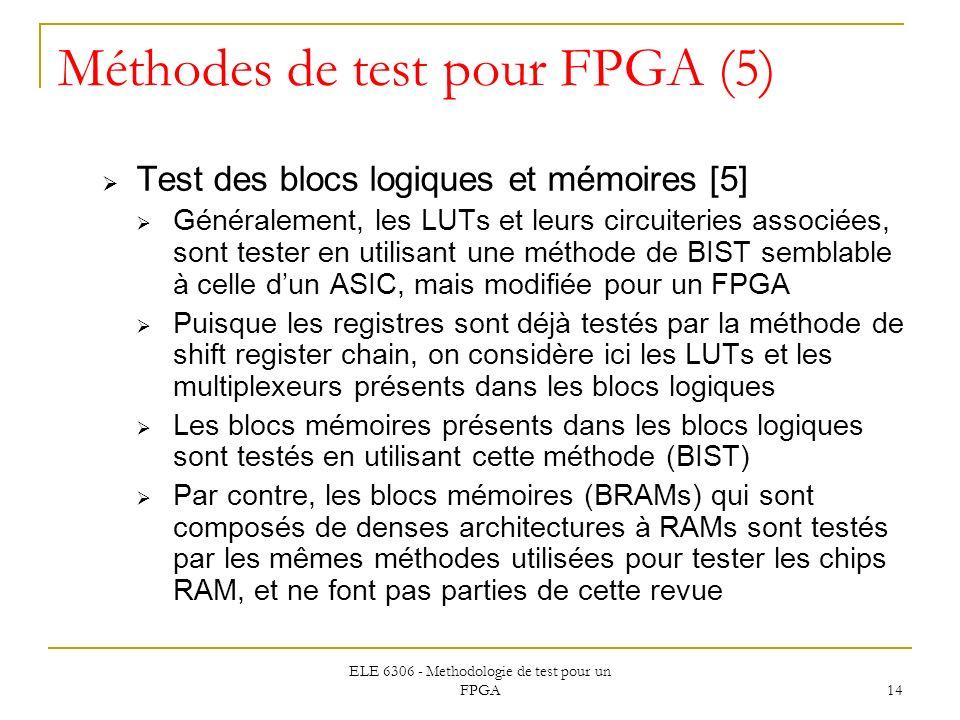 Méthodes de test pour FPGA (5)