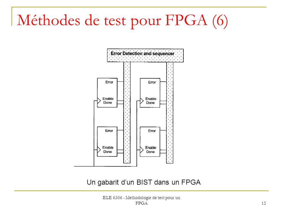 Méthodes de test pour FPGA (6)