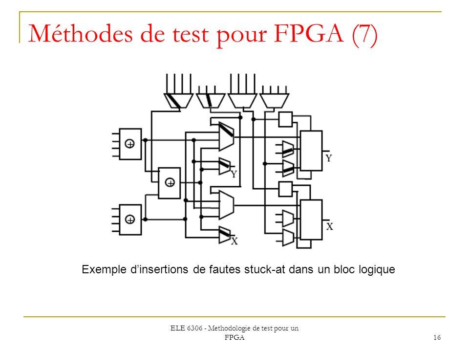 Méthodes de test pour FPGA (7)