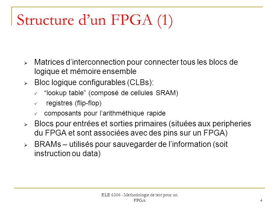 ELE 6306 - Methodologie de test pour un FPGA