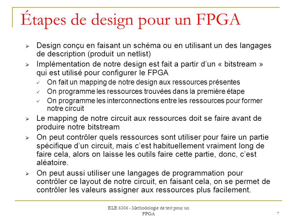Étapes de design pour un FPGA