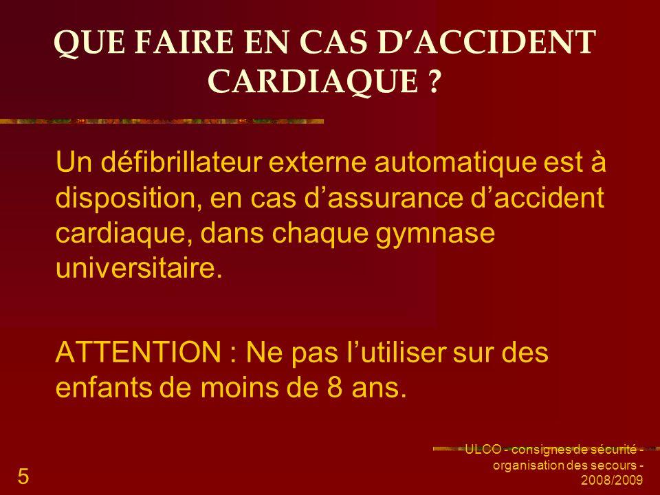 QUE FAIRE EN CAS D'ACCIDENT CARDIAQUE