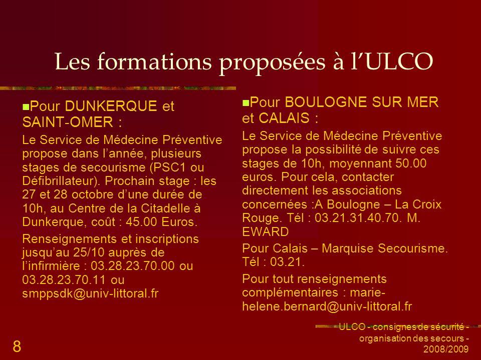 Les formations proposées à l'ULCO