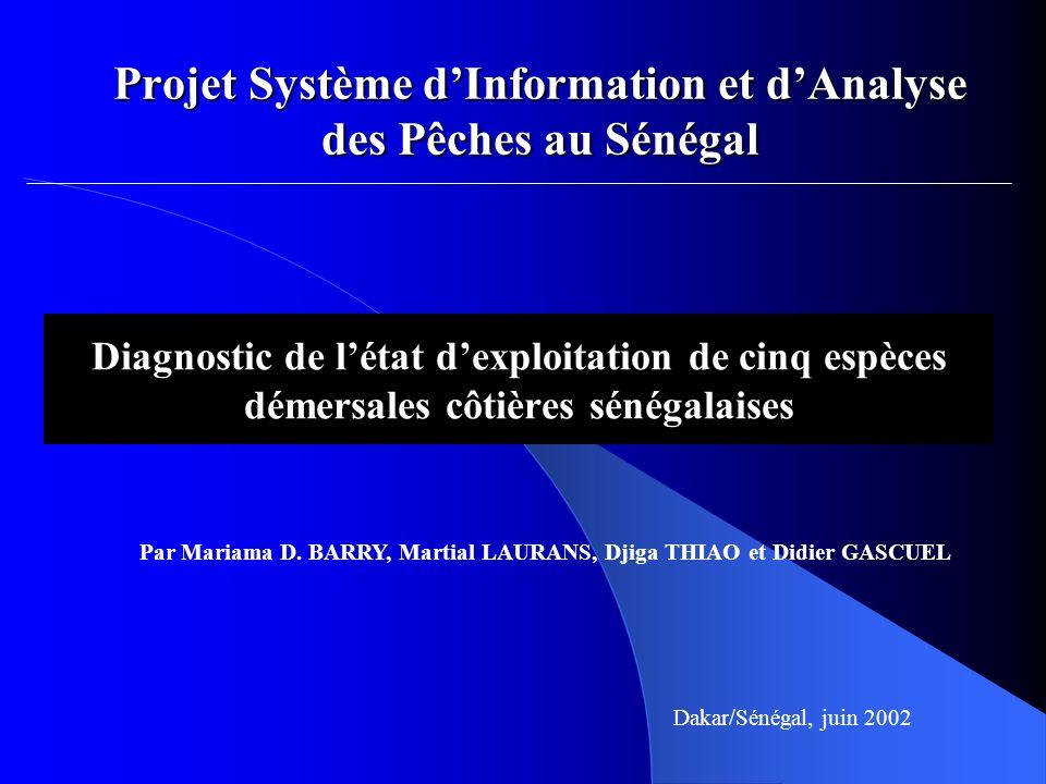 Projet Système d'Information et d'Analyse des Pêches au Sénégal