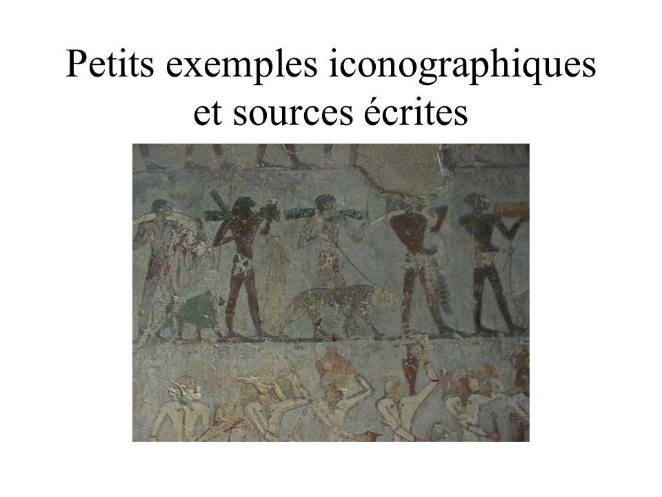 Petits exemples iconographiques et sources écrites