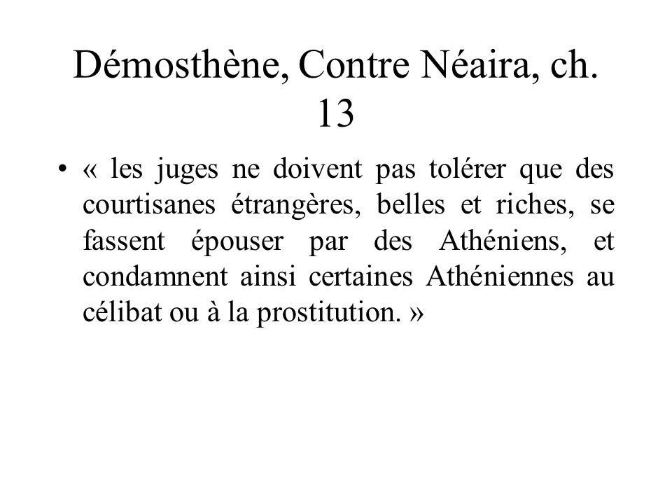 Démosthène, Contre Néaira, ch. 13