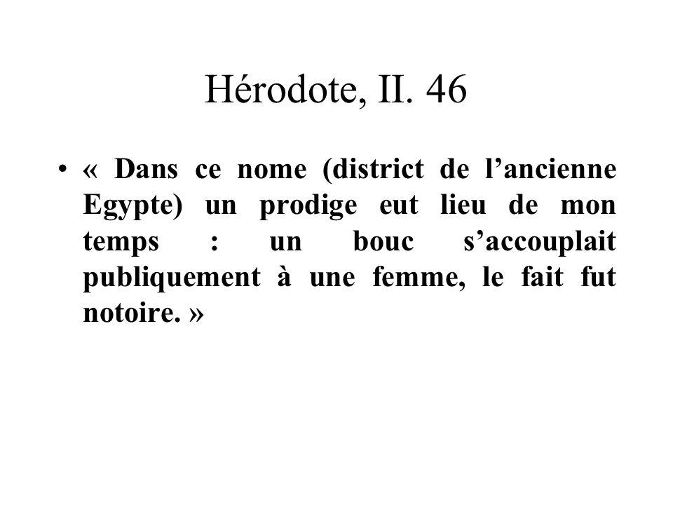 Hérodote, II. 46