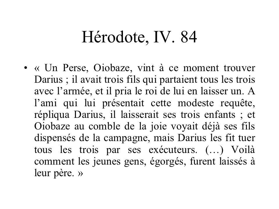 Hérodote, IV. 84