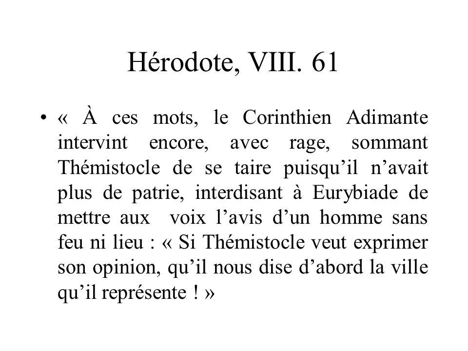 Hérodote, VIII. 61