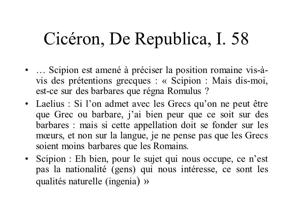 Cicéron, De Republica, I. 58