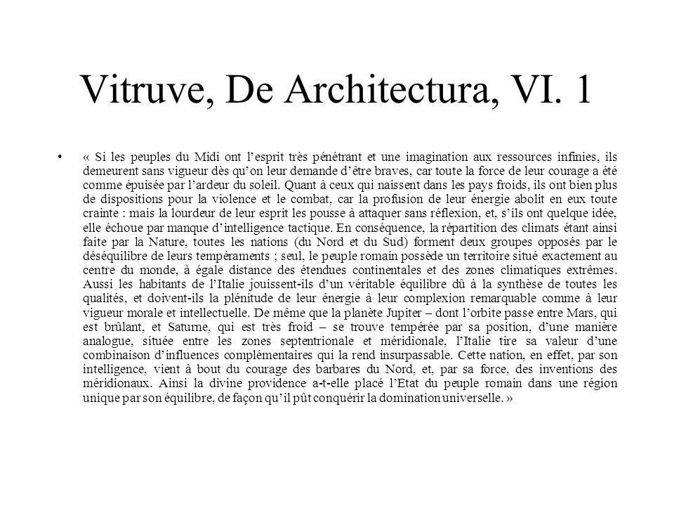 Vitruve, De Architectura, VI. 1