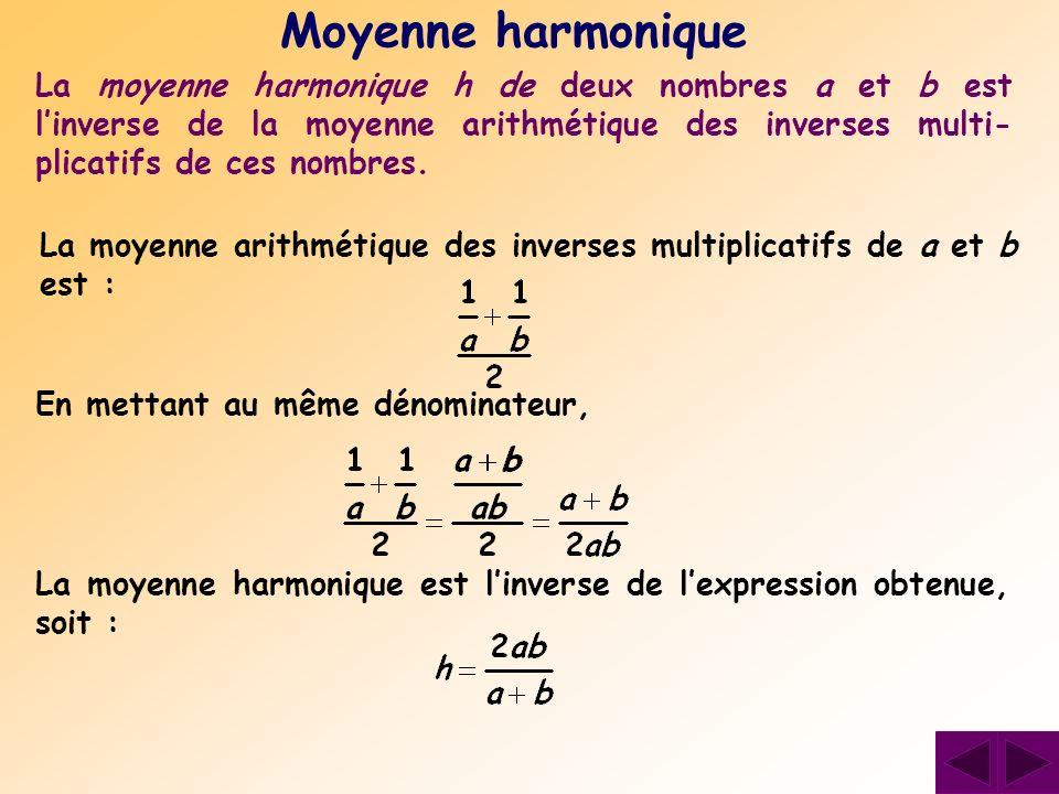 Moyenne harmonique