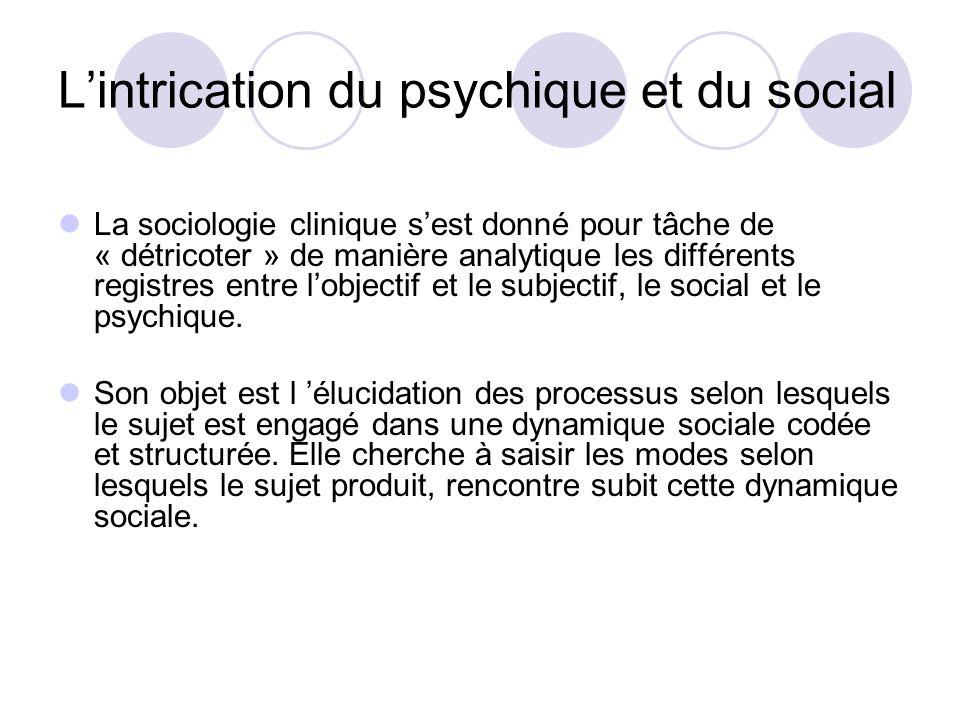 L'intrication du psychique et du social