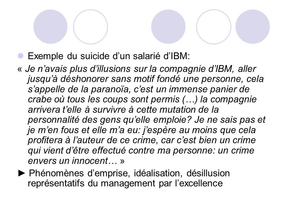 Exemple du suicide d'un salarié d'IBM: