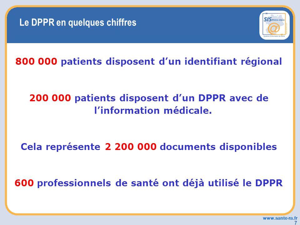 Le DPPR en quelques chiffres