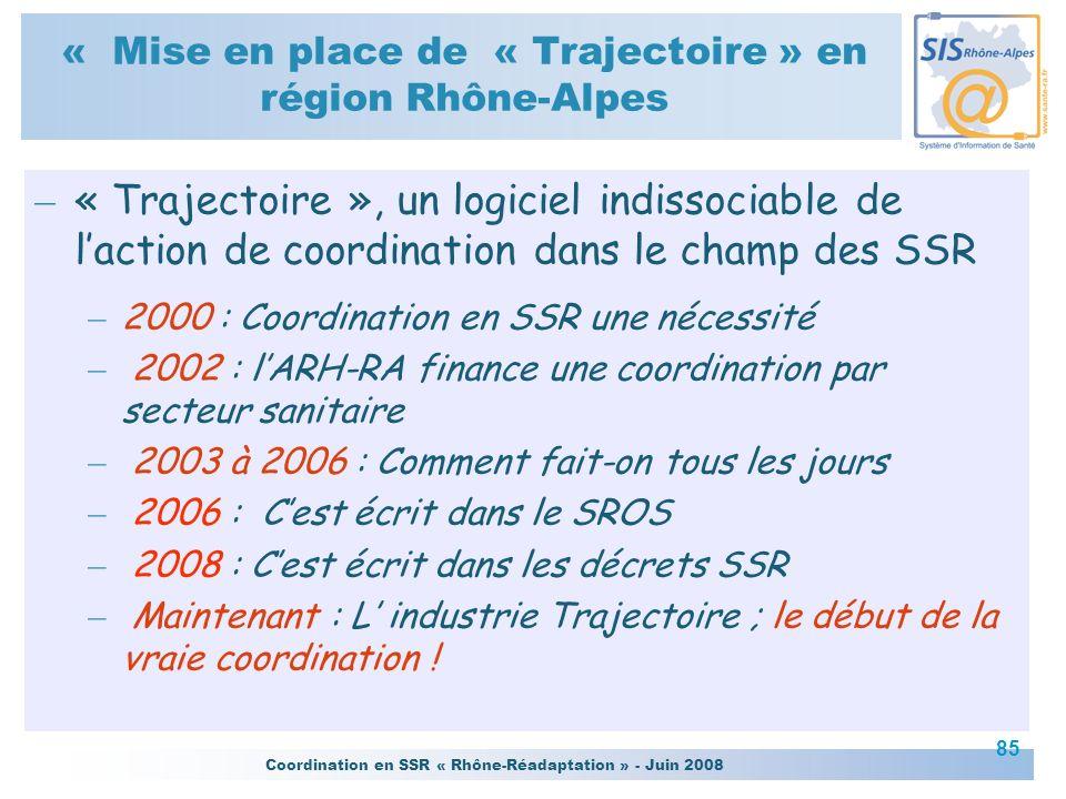 « Mise en place de « Trajectoire » en région Rhône-Alpes