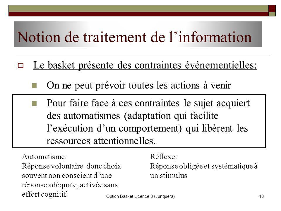 Notion de traitement de l'information