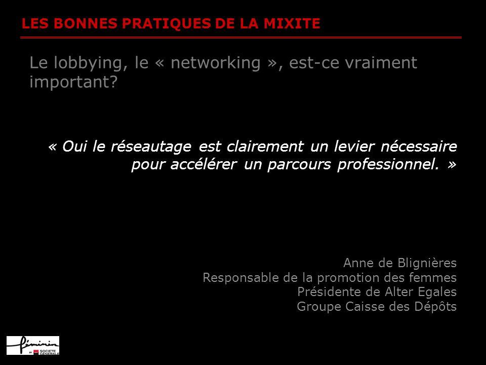 Le lobbying, le « networking », est-ce vraiment important