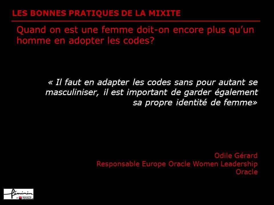 Quand on est une femme doit-on encore plus qu'un homme en adopter les codes