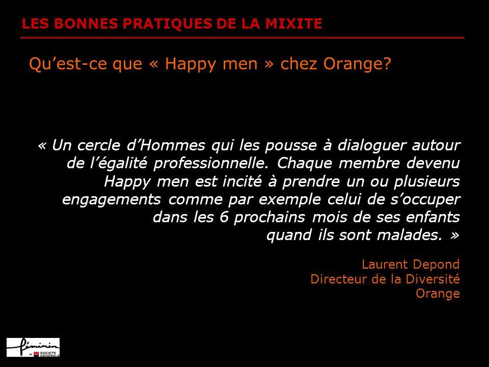 Qu'est-ce que « Happy men » chez Orange