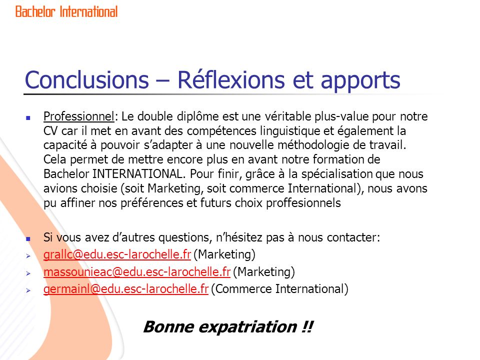 rapport d u2019expatriation acad u00e9mique