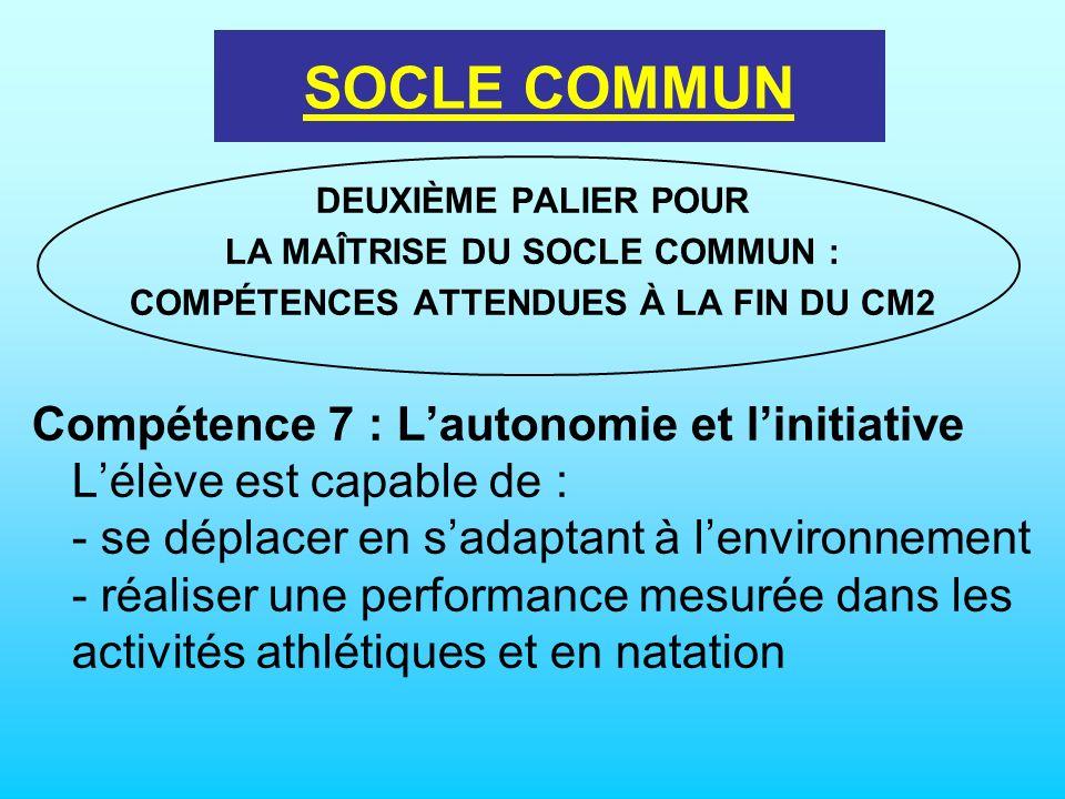 LA MAÎTRISE DU SOCLE COMMUN : COMPÉTENCES ATTENDUES À LA FIN DU CM2